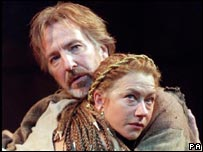 Helen Mirren with Alan Rickman in Anthony and Cleopatra