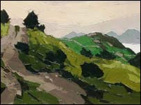 A Sir Kyffin Williams landscape - photo: Oriel Plas Glyn-y-Weddw