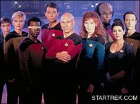 The cast of the first season of The Next Generation