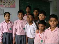 Urdu students at school in Delhi