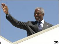 El secretario general de la ONU, Kofi Annan