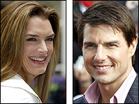 Brooke Shields and Tom Cruise