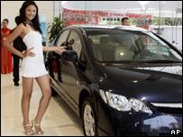 Muestra de automóviles en Vietnam