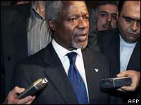 Kofi Annan in Tehran