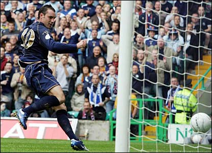 Kris Boyd scores for Scotland