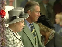 The Queen and Prince Charles watch the games on Saturday