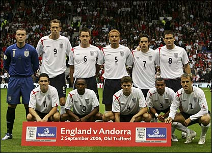 The England team pose for a photo