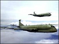 A pair of Nimrod MR2 aircraft