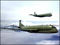 A pair of Nimrod MR2 aircraft