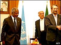 Kofi Annan en Irán