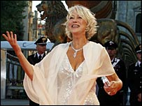 Helen Mirren arriving at the premiere