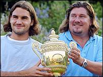 Roger Federer and Peter Lundgren