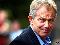 Tony Blair in Edinburgh on 1 September, 2006