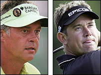 Darren Clarke (L) and Lee Westwood
