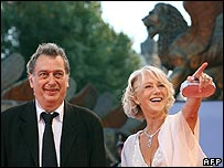 Dame Helen Mirren with director Stephen Frears