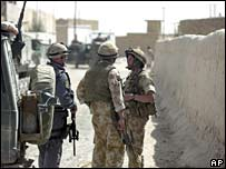 Nato forces in the Afghan city of Kandahar on 3 September 2006