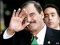 El presidente mexicano, Vicente Fox