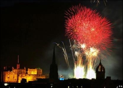 End Edinburgh Festival Fireworks End Edinburgh's Festival