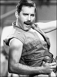 Freddie Mercury, Queen Video Shoot, London 1986. (� Richard Young)