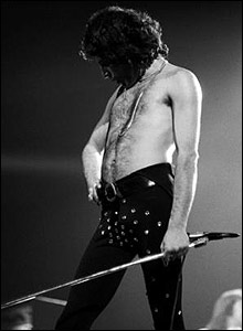 Freddie on stage, 1977. � Denis O'Regan