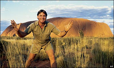 Picture from the AP via BBC - Steve in front of Uluru, once known as Ayers Rock