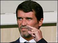 Roy Keane watches Sunderland