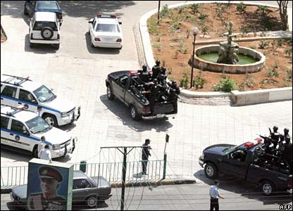 Jordanian anti-terrorism police arrived in the area in Amman where foreign tourists were shot