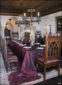 Cher's dining room in Malibu, California