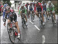 Cyclists ride through Kent on the Tour of Britain