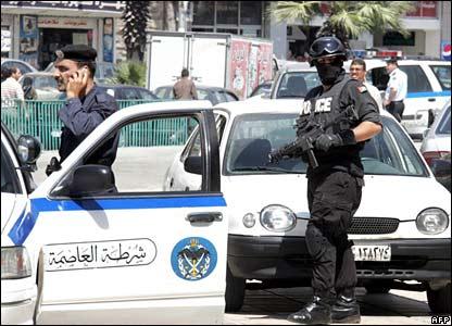Jordanian police in Amman