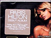 Imagen alterada del CD de Paris Hilton