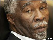South African president, Thabo Mbeki