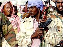 Islamist militiamen in Mogadishu