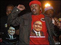Supporter of Jacob Zuma in Pietermaritzburg