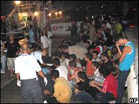 Illegal migrants in Lampedusa