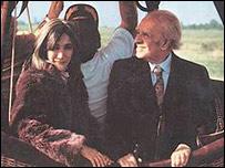 Mar�a Kodama y Jorge Luis Borges en 1983
