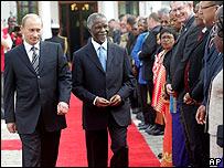 Vladimir Putin y Thabo Mbeki