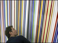 Ian Davenport at work