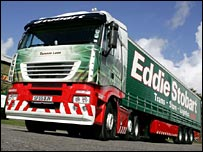 Eddie Stobart truck and trailer