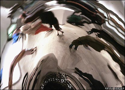Reflections in a section of Anish Kapoor's Untitled (1995)
