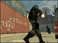 Screen shot from Counter Strike Source