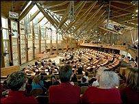 Holyrood debating chamber