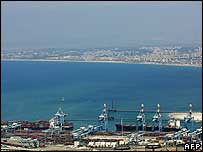 The port of Haifa