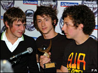 Arctic Monkeys' Jamie Cook, Alex Turner and Matt Helders