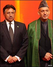 President Pervez Musharraf and Hamid Karzai