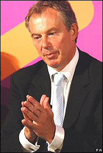 Tony Blair in York on 5 September, 2006