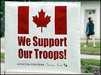 Support the troops sign