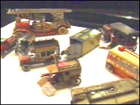 Collection of old toys