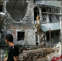 Damage caused by Hezbollah rocket