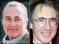 Tony Robinson (L) and Ian McEwan (R)
